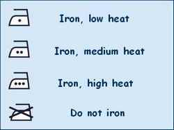Iron care label